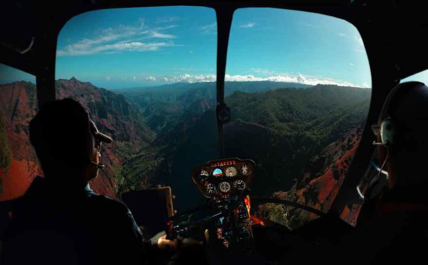 two pilot inside aircraft