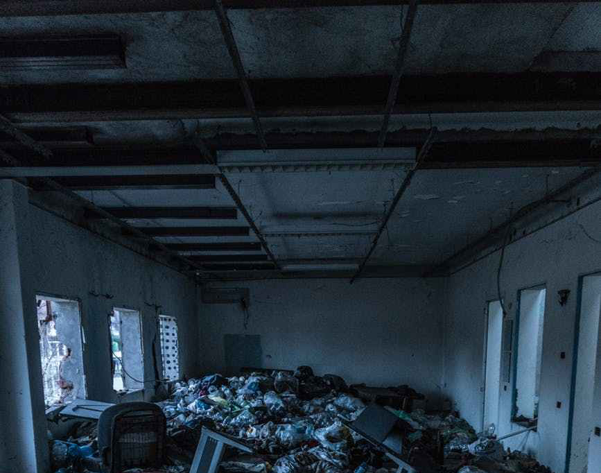 garbage inside a room