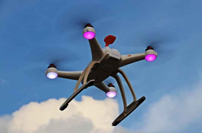 air aircraft clouds drone