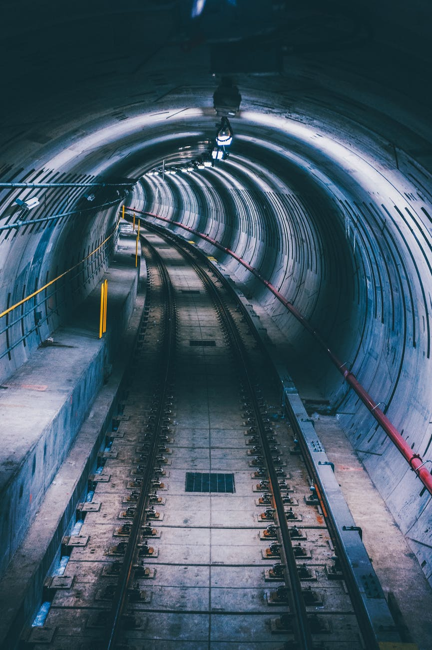 lighted subway